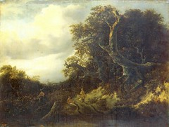 Jacob van Ruisdael - The Hermitage Museum -935. Road at the Edge of a Forest (c. 1646/1647) (lack of imagination) Tags: trees people water landscape blog hermitagemuseum jacobvanruisdael 15002000