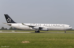 Lufthansa (Star Alliance Livery) A340-300 D-AIFF (birrlad) Tags: ireland atlanta dublin colour airplane star airport frankfurt taxi aircraft aviation airplanes medical international airline airbus airways emergency airlines scheme departure takeoff runway lufthansa dub decals airliner a340 titles departing alliance diversion livery taxiway a340300 a343 a340313 daiff lh444