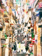 quartieri spagnoli, vico tofa (maurizio siani) Tags: street light people italy art primavera scale photography strada italia colore estate gente pentax case persone napoli naples scala giugno popolo colori luce vico croce balcone palazzi mattina bandiere finestre popolare giorno scalinata confusione 2016 gradini balconi quartiere confuso tofa quartieri effetto gradoni k30 popolino mabdierine
