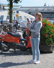 Amsterdam Noord Buiksloterweg gsm (GeRiviera) Tags: holland netherlands girl dutch amsterdam candid nederland niederlande noord buiksloterweg