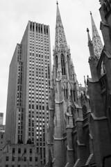 Rockefeller and St. Patrick (Rafael Rodrguez.) Tags: nyc blackandwhite newyork blancoynegro skyscraper blackwhite rockefeller nuevayork rascacielos