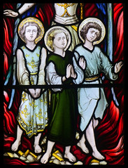 Shadrach, Meshach and Abednego in the Burning Fiery Furnace (Hardman & Co, 1872) (Simon_K) Tags: cambridge church university churches colleges stmichael cambridgeshire eastanglia cambs michaelhouse churchess