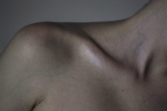 Bloodstream (Enrico Cavallarin) Tags: white detail neck 50mm blood shadows skin body textures bones veins shoulder heartbeat clavicle bloodstream