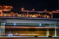post game platform (pbo31) Tags: california motion black color public station june night dark oakland spring nikon metro bart platform transit bayarea coliseum eastbay alamedacounty 2016 lightstream boury pbo31 d810