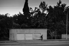 Off Track (dogwelder) Tags: california street blackandwhite broken monochrome three us losangeles doors unitedstates outdoor pedestrian sidewalk grarage cornwellstreet