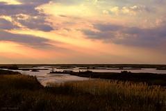 Spring slips away (tom bourdot) Tags: light sunset sun nature water clouds rural outside spring pond dusk nj gimp wetlands marsh nikkor magichour forsythe refuge forsytherefuge nikond3300