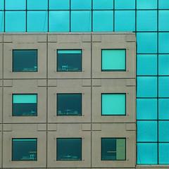 boxed in (msdonnalee) Tags: window architecture ventana architecturaldetail geometry fenster officebuilding finestra squareformat janela fentre geometrie urbanarchitecture