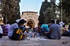 Breakfast in arenas of Al Aqsa masjid in ‪#‎Ramadan‬ (TeamPalestina) Tags: heritage beautiful architecture sunrise hope amazing photographer sweet palestine jerusalem domeoftherock blockade ramadan freepalestine alaqsa palestinian occupation goldendome تصويري oldcityjerusalem landscapecaptures