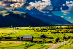 Grand Teton Miniature (Travis Klingler (SivArt)) Tags: miniature barns wyoming grandteton tiltshift danballard