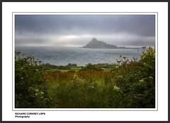 St Michael's Mount from Perranuthnoe (Chalky666) Tags: sea seascape painterly art rain landscape island cornwall drizzle