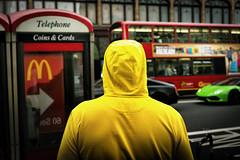 Arrow (Ian Livesey) Tags: london harrods knightsbridge uk capital south man mcdonalds yellow supercar arrow street streetphotography streetogs
