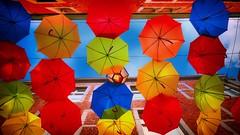 les parapluies  Namur (Yasmine Hens) Tags: parapuies couleurs colors colours sky ngc hensyasmine hens yasmine flickrunitedaward namur iamflickr world100f flickr belgium wallonie europa panasonicdmclx100 panasonic lumix wow brilliant