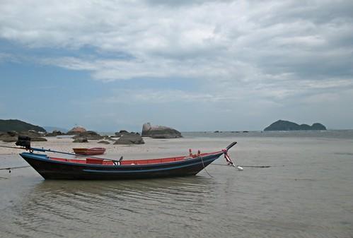 Small boat near Hua Hin Thailand