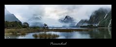 Primordial (grantg59@xtra.co.nz) Tags: sea mist seascape mountains clouds landscape mirror amazing moody tricks sound milford range tonal lockup primordial sekonicl758d lightroomcc