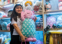 North korean teen defector buying a funny pillow, National capital area, Seoul, South korea (Eric Lafforgue) Tags: woman cute childhood shop horizontal shopping asian fun toys store stuffed funny asia soft forsale display candid object refugee bears adorable fluffy plush pillow indoors commercial seoul teenager products choice variety southkorea youngadult sweetness assortment consumerism oneperson consumer defector 1819years northkorean 1617years waistup 1people nationalcapitalarea colourpicture koreanethnicity sk162388