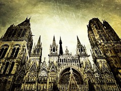 Gothic (Gladly Beyond) Tags: cathedral gothic rouen fx 4s tangled iphone iphoneography picfx uploaded:by=flickrmobile flickriosapp:filter=nofilter
