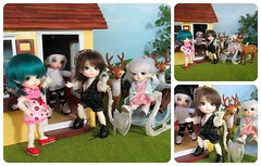 1/7 Kayla and Pepper arrive. (Flava Sweet) Tags: reindeer pepper dolls sophie harriet bjd zane sleigh kayla fairyland diorama dollhouse haru pero snowqueen lati flavasweet latiyellowlimitededition pukifeezio aladdinandtheenchantedlamp aladdinharu