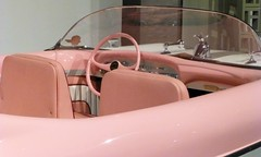 (chicagoredhead) Tags: california pink car vintage la losangeles steering automotivemuseum