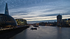 London Tower Bridge at sunset (ed 37 ~~) Tags: greatbritain bridge sunset england sun sunlight london water thames clouds towerbridge canon evening illuminated ef24105mmf4lisusm canoneosd canoneos5dmarkii