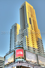 Yonge & Bloor, Toronto (IFoxyGn) Tags: ca windows sky toronto ontario canada building tower glass retail photography office advertisement signage storefronts hdr highdynamicrange condominium mississuaga