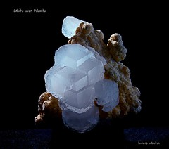 Calcite on Dolomite (howie516) Tags: nature rocks crystals minerals calcite rockhound