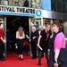 Fiona Hyslop arriving at the European premiere of Breathe In at Festival Theatre