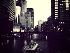 Taxi! (reillyandrew) Tags: mammothfilter flickriosapp:filter=mammoth uploaded:by=flickrmobile chicago loop vsco iphone chicagoriver watertaxi
