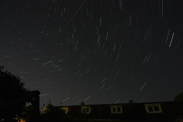 short star trails