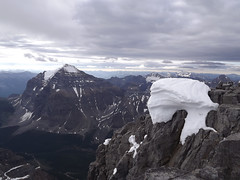 Mount Temple (*Andrea B) Tags: summer mountain lake snow canada temple lakes pass july victoria ridge mount louise summit banff ohara lakelouise abbott abbot banffnationalpark lakeohara lakeoesa canadianrockies mountvictoria mounttemple lefroy oesa 2013 abbotpass mountlefroy abbottpass july2013