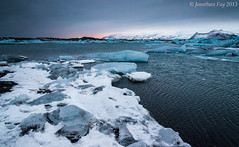 Jkulsrln Sunset (Jonny Fay) Tags: ocean road blue winter sea vacation lake cold ice water river landscape 1 march frozen iceland nikon scenery waves view tripod freezing lagoon atlantic 03 ring glacier route filter 09 lee nd vista iceberg 24mm resin filters 06 f4 gitzo route1 jokulsarlon graduated density 120mm jkulsrln d800 glacial neutral ringroad gnd 24120 breiamerkurjkull neutraldensity 2013 3stop 1stop 2stop 36mp graduatedneutraldensity leefilters nikond800 36megapixels 2