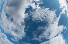 Arizona Sky Fisheye (MichaelJagendorf) Tags: blue arizona sky white fish eye nature weather clouds grandcanyon wide roadtrip fisheye michaeljagendorf roadtrip2011