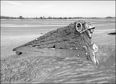 Jonadab In Monochrome (R~P~M) Tags: uk greatbritain england river boat ship unitedkingdom gloucestershire severn wreck glos purton trow