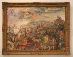 Oskar Kokoschka (1886-1980) Prague from Krams Villa, 1934-1935, oil on canvas (Sergei P. Zubkov) Tags: november art painting czech prague praha fair palace trade 2011 veletrn