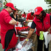 NC State employees and their families enjoy food, fellowship and fun during the Employee Appreciation tailgating event before NC State's home game against Syracuse University.