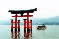 Miyajima Shrine (El-Branden Brazil) Tags: sea reflection japan asian japanese boat shrine asia religion hiroshima miyajima holy sacred mystical shinto torii