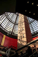Under a Umbrella (Jocey K) Tags: city sky building architecture shadows australia melbourne shops cbd shoppingprecinct melbournecentral shottower