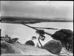 From Granite Island, looking towards Victor Harbor (State Records SA) Tags: blackandwhite photography australia historical southaustralia frankhurley srsa staterecords staterecordsofsouthaustralia staterecordsofsa
