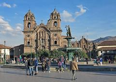 La Compania de Jesus, Cusco (Mike Colyer) Tags: alpaca peru inca ruins cathedral cusco explorer andean peruvian