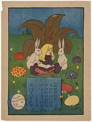 April (Boston Public Library) Tags: girls prints rabbits calendars