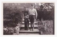 Dennis & Derek 1955. (Man of Yorkshire) Tags: bw film 1955 cowboy nostalgia derek photograph shorts dennis