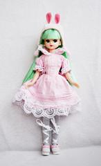 Pink Rabbit (mobe dolls) Tags: pink white rabbit alice chan wonderland licca