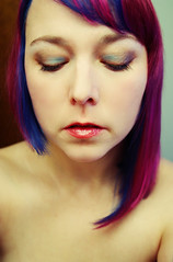 (Opal in the rough) Tags: blue haircut orchid hair turquoise burgundy magenta bob style asymmetrical