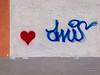 Herzgrafitti (gartenzaun2009) Tags: graffiti stencil wand herz passau grafitto