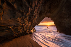 Gateway to the Sea (Jim Patterson Photography) Tags: travel sunset sea beach nature landscape outdoors photography coast arch shoreline scenic coastal shore holeinthewall naturalarch jimpattersonphotography jimpattersonphotographycom seatosummitworkshops seatosummitworkshopscom