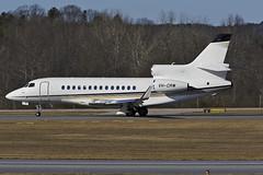VH-CRW - Dassault Falcon 7X - KFTY - Jan 2014 (peachair) Tags: vhcrw dassault falcon 7x kfty jan 2014 fulton county charlie brown airport atlanta georgia
