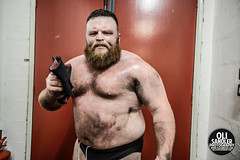 'The Bastard' Dave Mastiff Post Victory (Oli Sandler) Tags: uk chris portrait england london dave rj eagle candid wrestling jimmy mastiff indy environmental prince mexican independent hero backstage marty riots ohno wwe singh havoc tna prowrestling devitt kassius ipwuk scurll