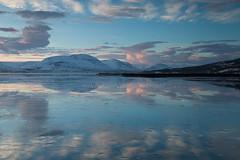 Akureyri Scenery (baddoguy) Tags: morning winter lake reflection water sunrise iceland scenery tranquility atmosphere fresh fjord eyjafjordur akureyri horzontal vision:sunset=0669 vision:mountain=0739 vision:ocean=0608 vision:sky=0973 vision:outdoor=0936 vision:clouds=0962