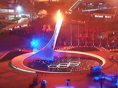 Sochi 2014 (Ph. 02) (riverishere) Tags: sports colors europe russia couleurs olympic russie olympique olympicgames sochi olympicflame olympicrings flammeolympique jeuxolympique anneauxolympique flickrandroidapp:filter=none