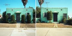 Two aqua apts. (ADMurr) Tags: venice 6x6 film rollei la diptych aqua apartment kodak turquoise antenna typology planar ektar