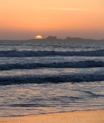 Ano Nuevo Beach at sunset (edenseekr) Tags: california sunset beach stones anonuevo cabeachpacificocean